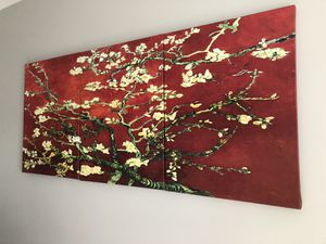 Triptych wall art - Interpretation almond blossom by Van Gogh for Sale in Wheaton-Glenmont, MD