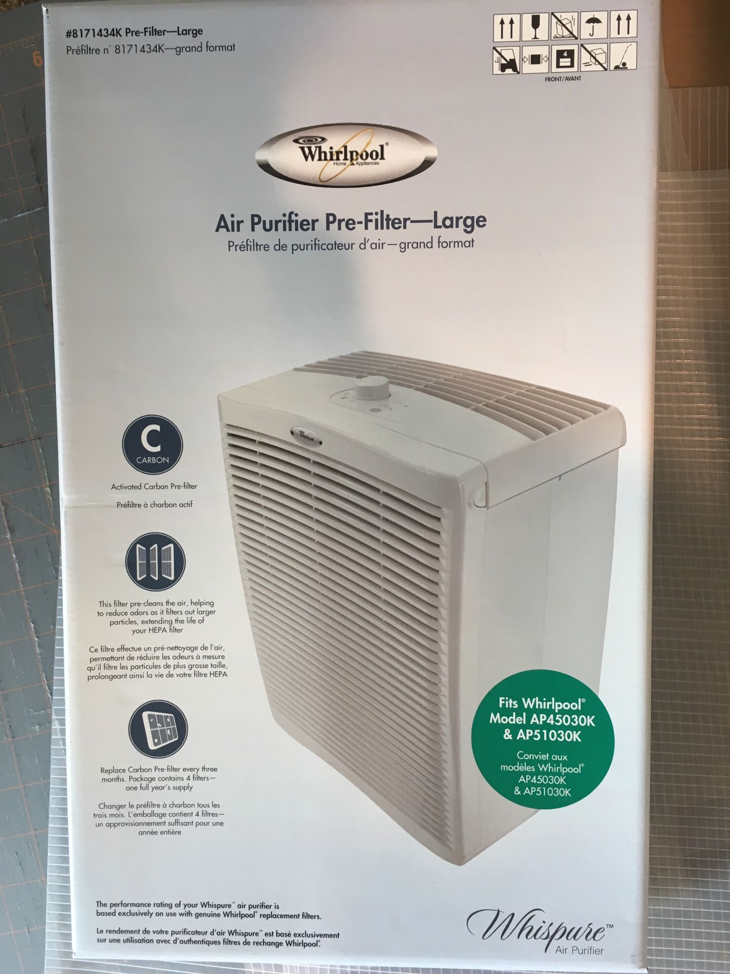 Whispure air purifier FILTER ONLY
