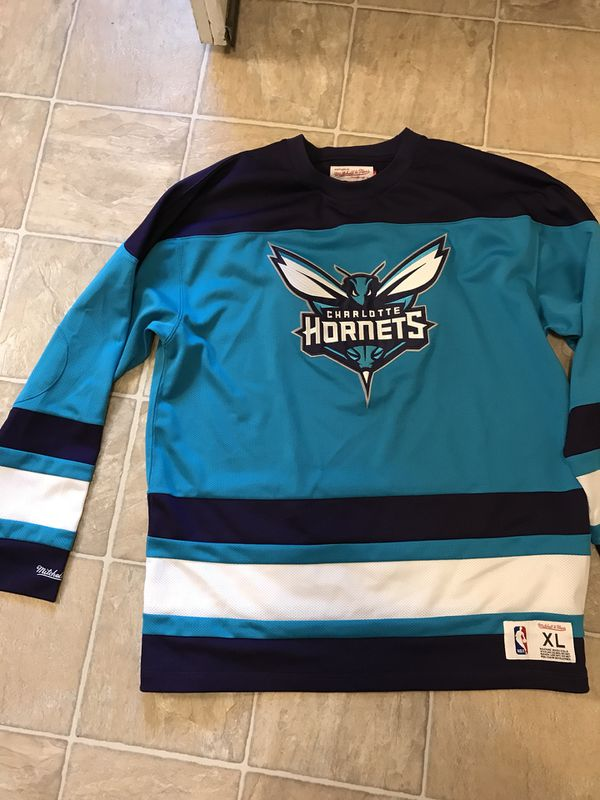 new product fd977 2bc71 Mitchell & Ness Charlotte Hornets hockey jersey 150$ brand new for Sale in  Grove City, OH - OfferUp