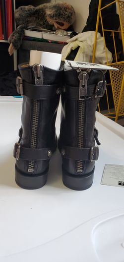 Frye Veronica leather booties Thumbnail