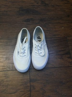 White Vans size 5.5 men's and 7 women's for Sale in Santa Maria, CA