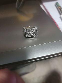 Men's Size 10 Stainless Steel Ring Thumbnail