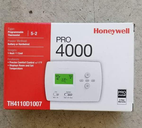 Honeywell PRO 4000 Thermostat - Like New for Sale in Grimes, IA - OfferUp