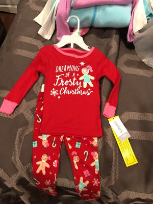Carters Christmas jammies for Sale in Los Angeles, CA