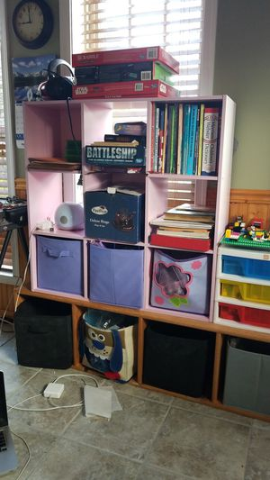 Childs cubbie with containers for Sale in Manassas, VA