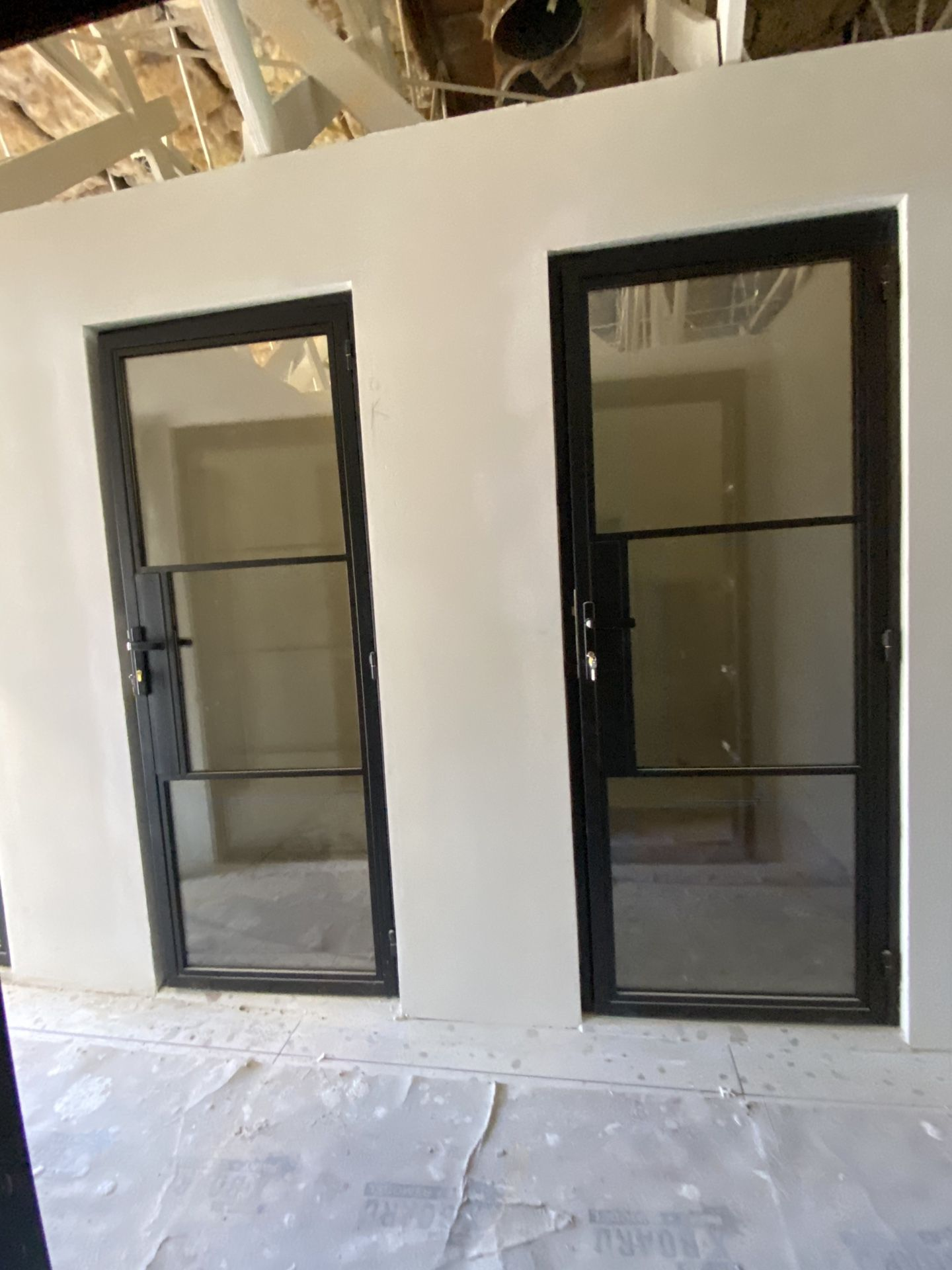 New Steel Glass Doors Double Tempered Custom Made