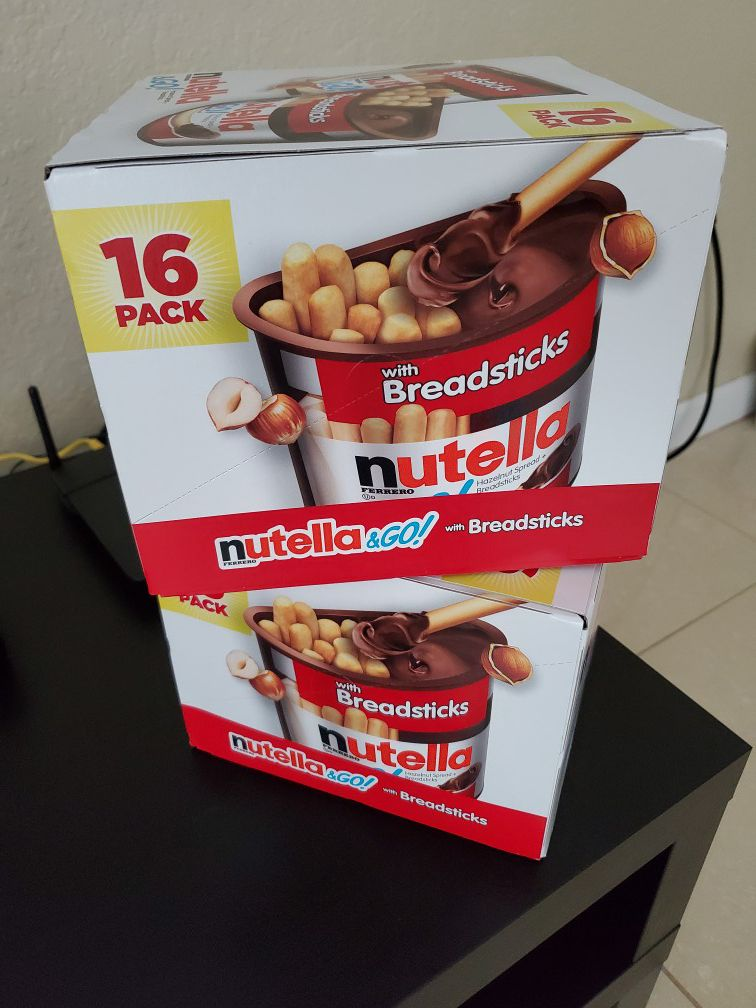 Nutella bread sticks
