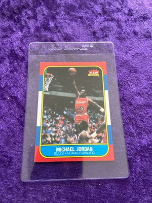 Photo 1986-87 Fleer Michael Jordan Rookie Card.Mint Basketball read details