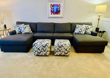 Sectional With Ottomans Thumbnail
