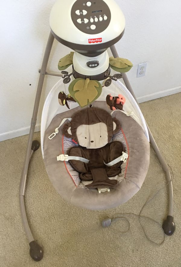 Fisher Price Monkey Cradle N Swing For Sale In Palo Alto