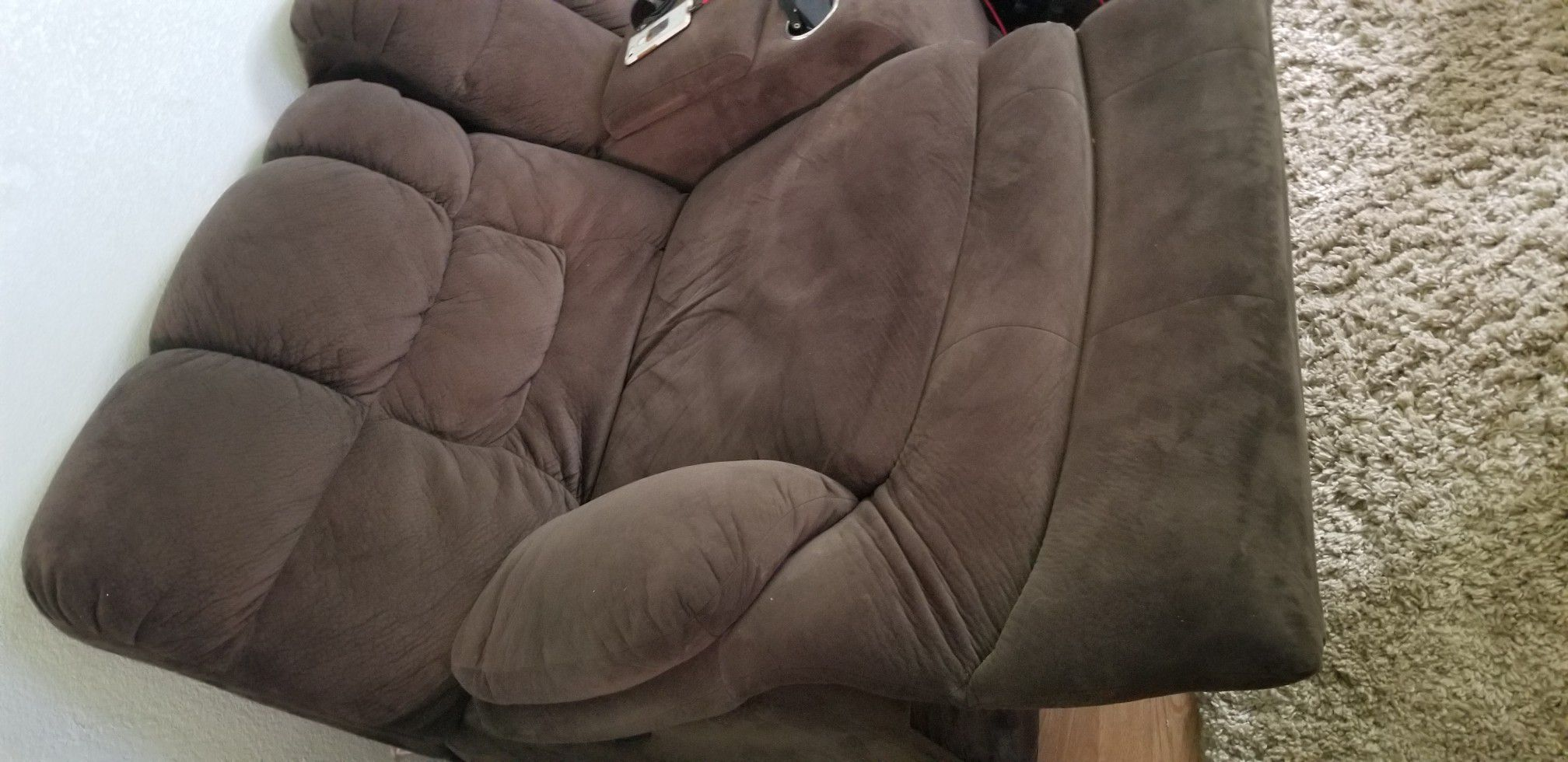 Brown micro couch