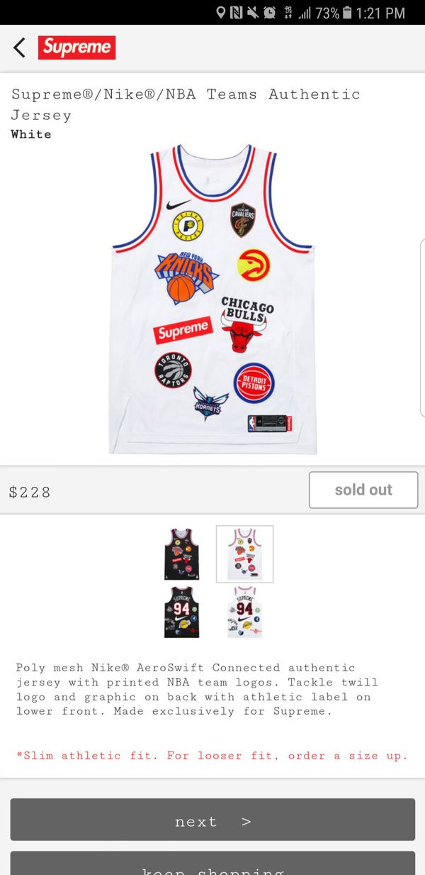 hot sale online bdfc3 1f843 Supreme NBA Jersey for Sale in San Jose, CA - OfferUp