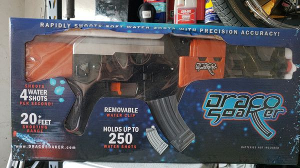 Draco soaker! Fully automatic battery operated water gun for Sale in  Visalia, CA - OfferUp