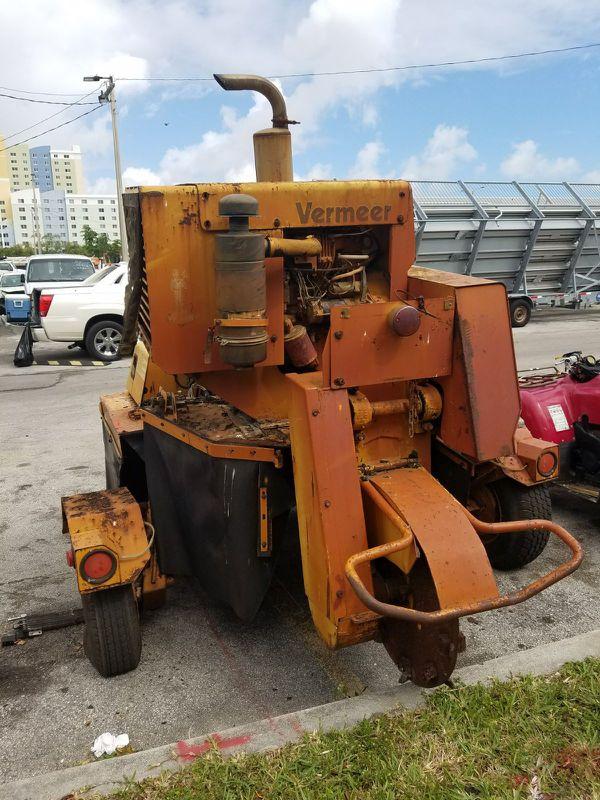 Vermeer Stump Grinder For Sale >> Vermeer Stump Grinder Model 665 B Heavy Duty Diesel For Sale In Miami Gardens Fl Offerup