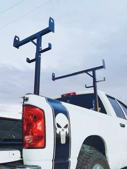 New in box side mount 400 lbs capacity commercial contractor pickup truck bed universal adjustable ladder rack truck rack  Thumbnail
