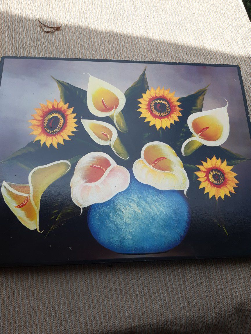 Hand painted frames set of two