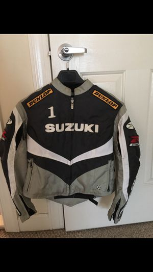Suzuki small woman's motorcycle jacket with padding for Sale in Gaithersburg, MD