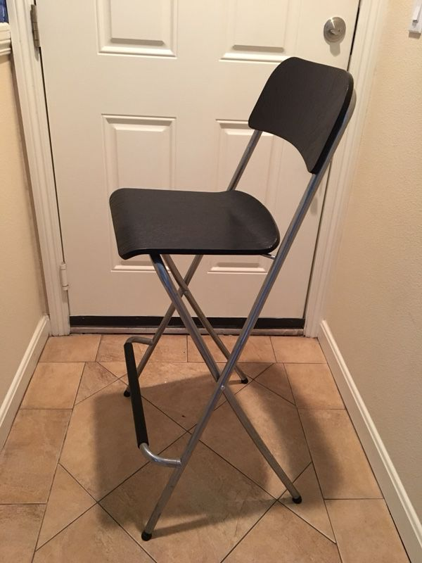 Admirable Ikea Franklin Bar Stool With Backrest Foldable Brown Black Theyellowbook Wood Chair Design Ideas Theyellowbookinfo