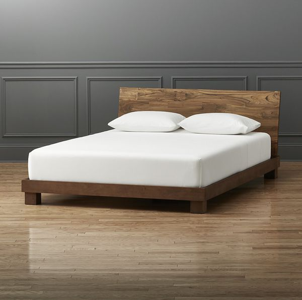 CB2 Dondra Wood Queen Bed Frame Only for Sale in Los Angeles, CA