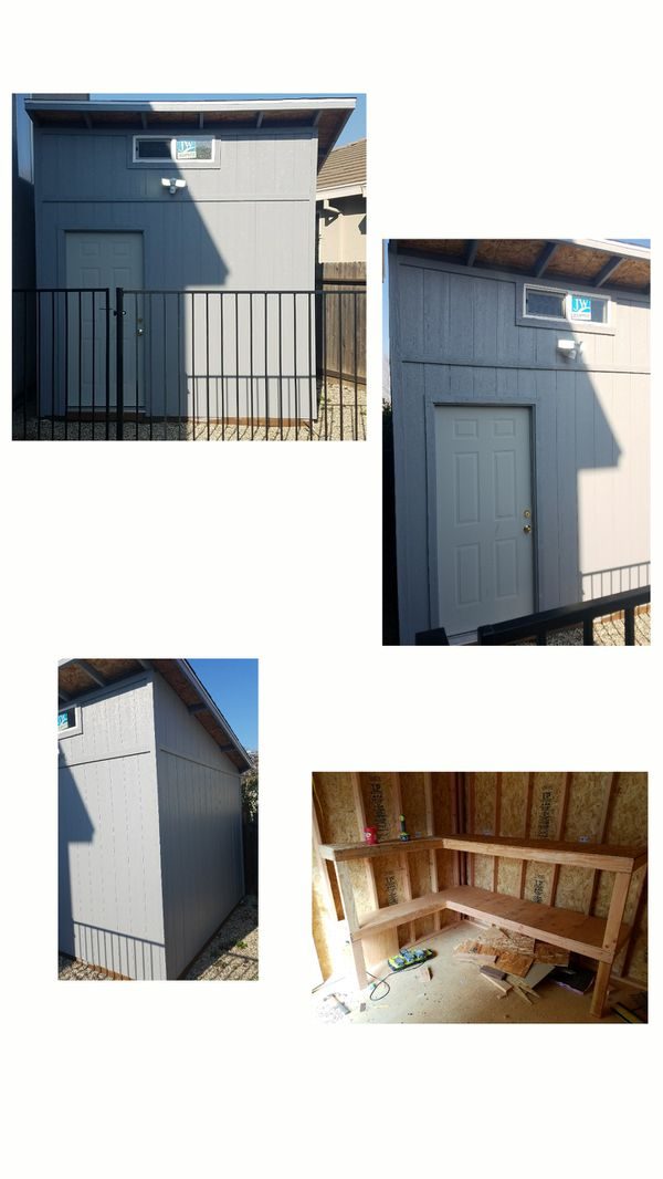 Wood Shed 8x8 Installed And Painted For Sale In Wilton Ca