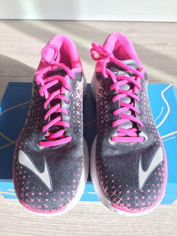 7891156abaf BROOKS Women s PURE FLOW 5 - Pink Gray  Sz 7.5 Excellent Condition ...