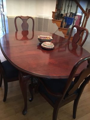 Dining room table and chairs Solid cherry for Sale in Chesterfield, VA