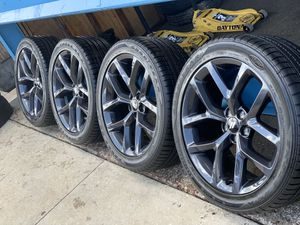 Photo 2019 new rims with tires for Dodge charger size 245/4520 Very nice $1,500