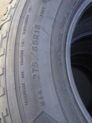 FULL SET TIRES LT275//65//18 for Sale in Las Vegas, NV