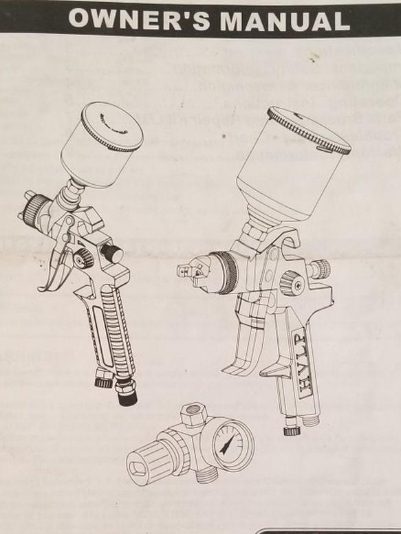 3 Pc Gravity Feed HVLP Spray Gun Set