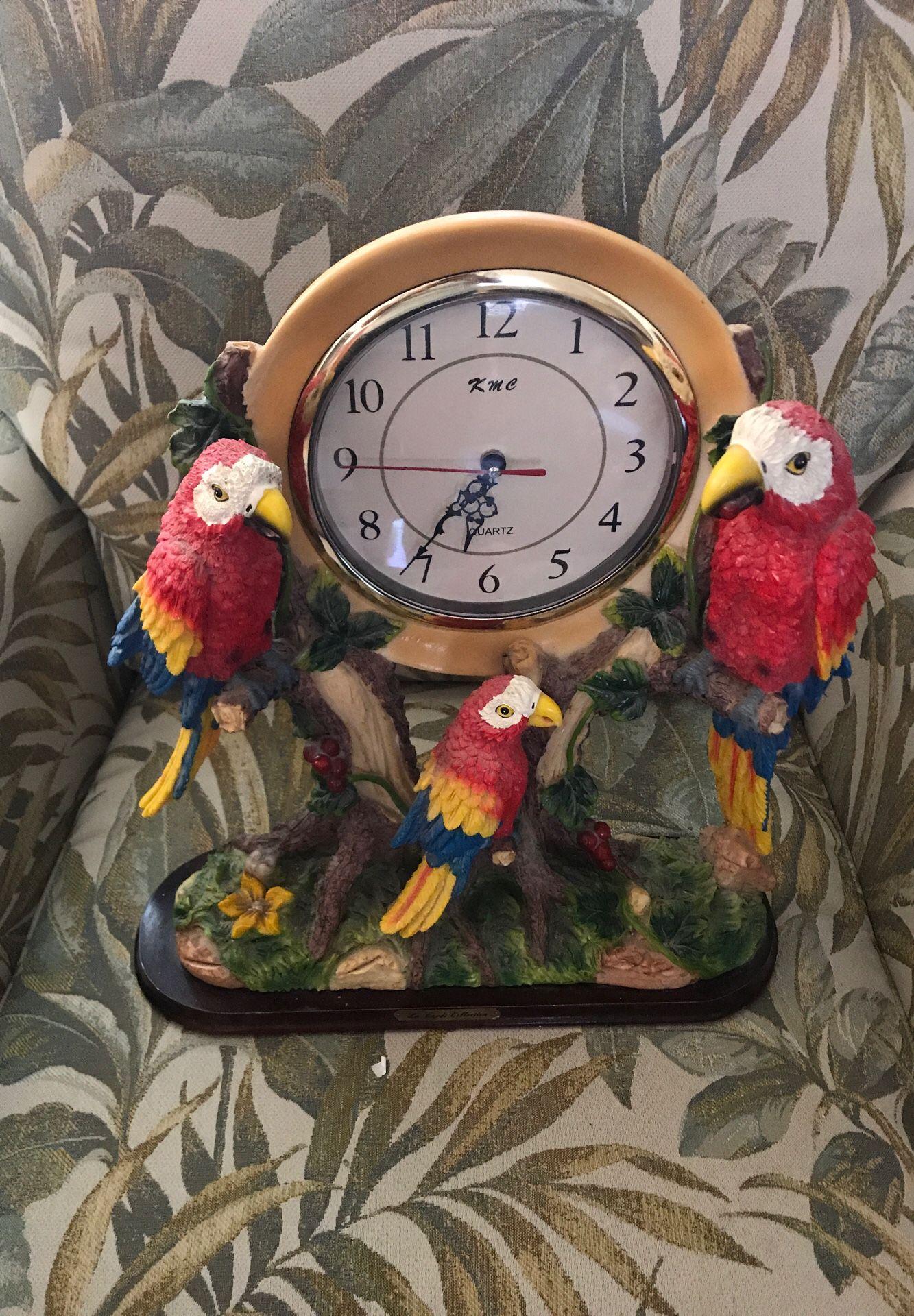 Bird clock $15