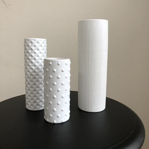 A set of CB2 decorative white vases for Sale in Mountain View, CA