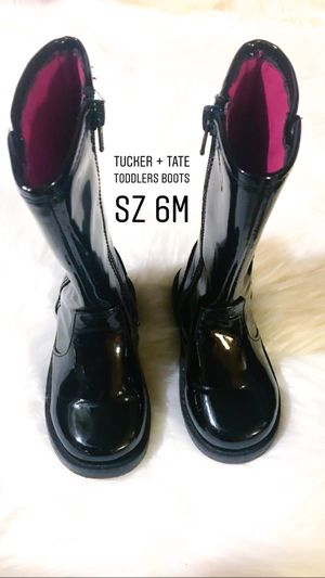 Tucker & Tate Nordstrom Tate Tess Black Faux Patent Toddlers Boots Size 6M ***** FIRM ON PRICE for Sale in Riverside, CA