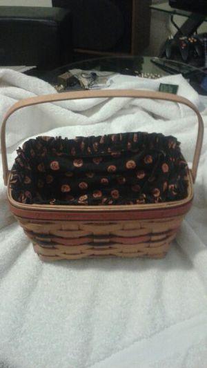 Longaberger Halloween basket with liner &insert. for Sale in Portland, OR