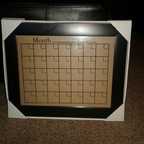 Framed Dry Erase Calendar For Sale In Tacoma Wa Offerup