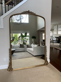 Anthropology Gleaming Primrose Mirror Gold: biggest size - 7'  New - we ordered 2 colors to see which one will match our decor better and waited for a Thumbnail