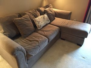 Large brown sectional sofa and chair for Sale in Alexandria, VA