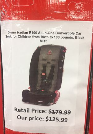 Diono Radian RTX All In One Convertible Car Seat Midnight For Sale San Leandro