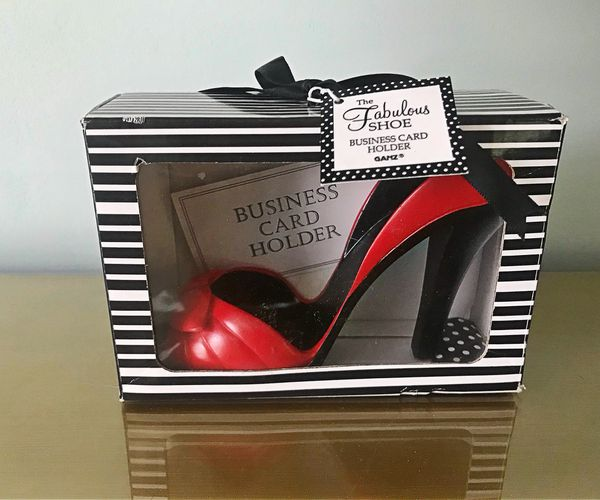 New fabulous red shoe business card holder for sale in charleston open in the appcontinue to the mobile website colourmoves