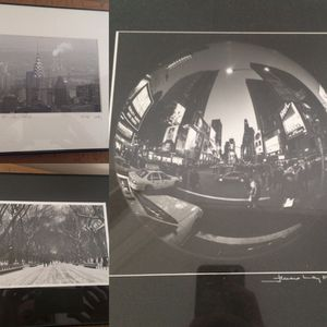 3 black & white photographs from NYC local photographer for Sale in Austin, TX