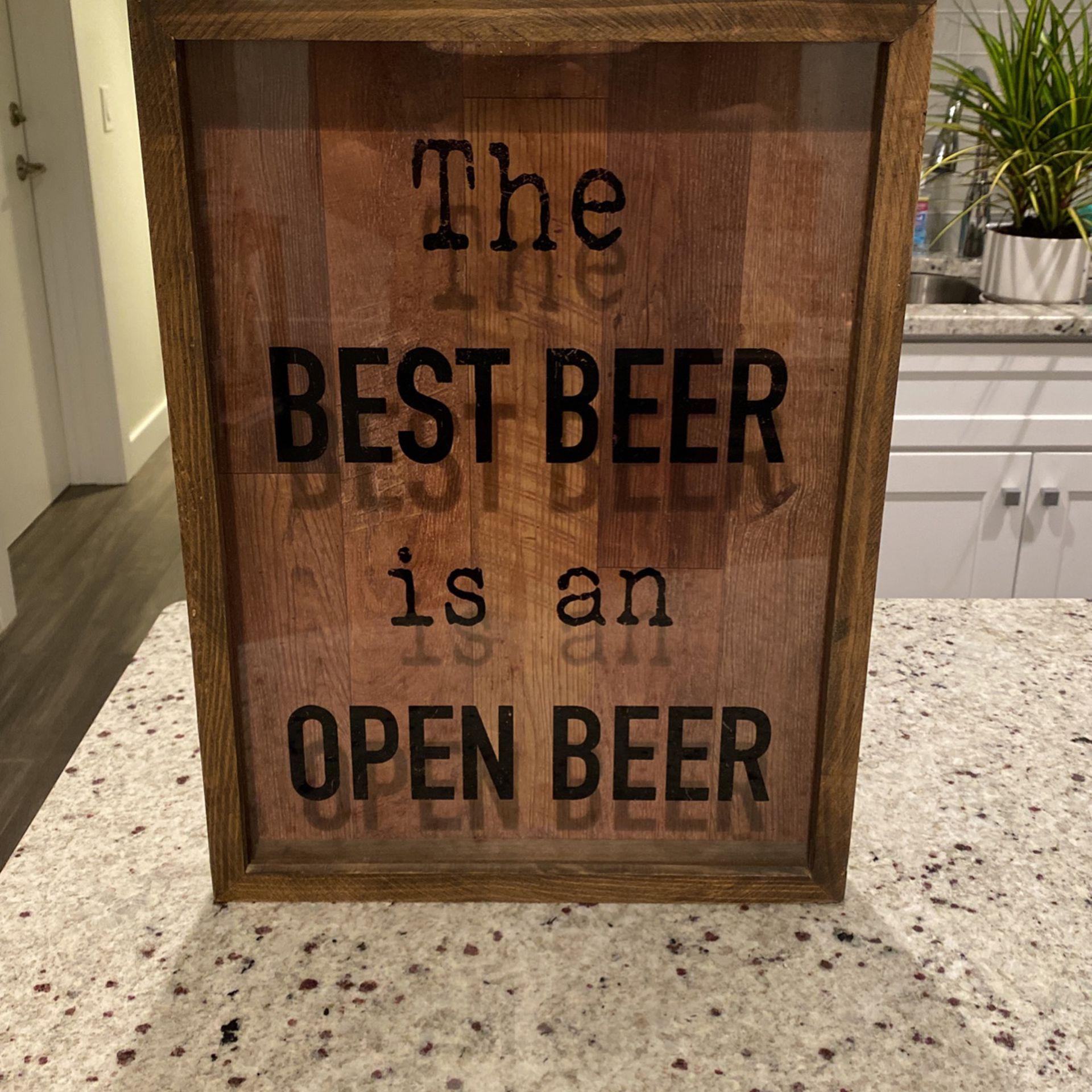 Beer Cap Shadow Box