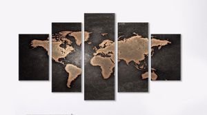 Wall art - Retro World Map 5 Piece Canvas for Sale in Frederick, MD