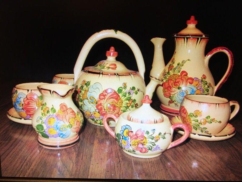 Pottery -French Pottery Coffee/Tea Set