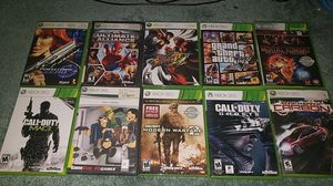 Xbox 360 Games GTA V, COD:MW2, COD:MW3, COD:GHOSTS, MORTAL KOMBAT, NFS CARBON, STREET FIGHTER, HALO 3, ULTIMATE ALLIENCE, PERFECT DARK ZERO for Sale in Springfield, VA