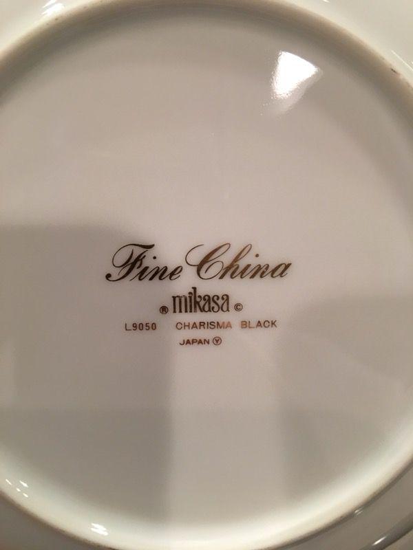 Mikasa (Charisma Black L9050) Fine China for Sale in North Brunswick ...