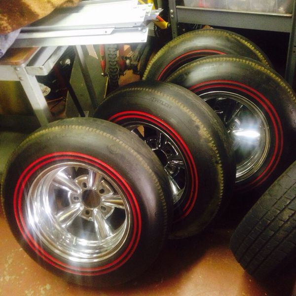 Astro Supreme Wheels 14 Redlines Tires
