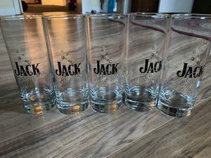 Jack Daniels (Jack and Ginger) 10oz glasses. Set of 5 for Sale in Berryville, VA