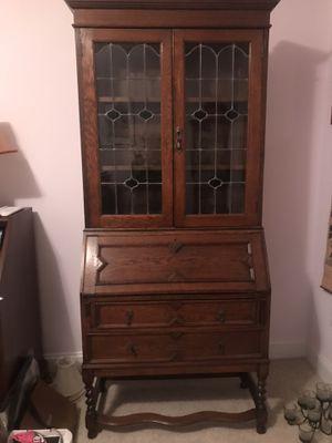 Photo Antique English Oak Secretary