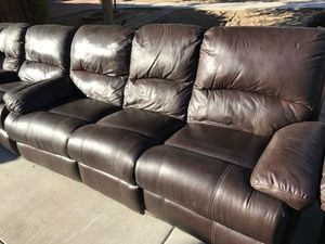 Leather couches electric for Sale in Phoenix, AZ