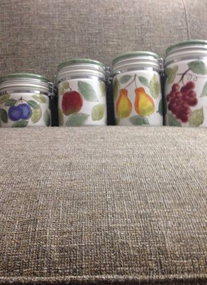 4 Piece Canister Set, Brand Name is Certified International. Please See All The Pictures and Read the w for Sale in Lincolnia, VA