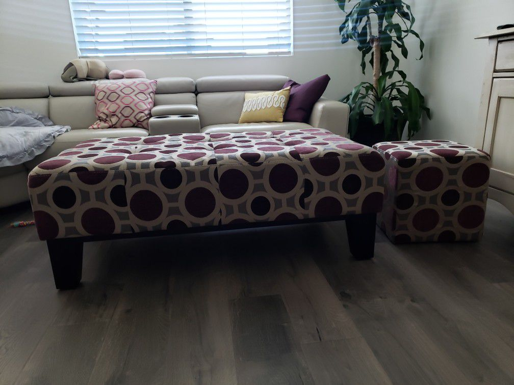 Ottomans with small ottoman